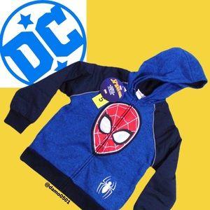 Marvel Spiderman Pullover Hoodie 4-5 XS 8 M 10-12 L New Childs Sweatshirt NWT